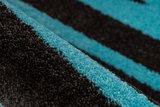 Vloerkleed Wales Antraciet Turquoise 200_