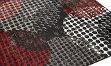 Modern vloerkleed Dresden zwart rood_