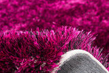 Hoogpolig karpet Diadeem Violet_