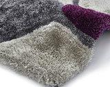 grau purple teppich