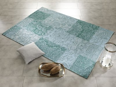 Patchwork tapijt Avinci 486 Turquoise