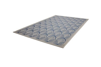 Blauw goedkoop design vloerkleed Elba