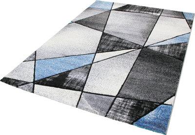 Moderne blauwe vloerkleden en tapijten Raphel 1525 blauw