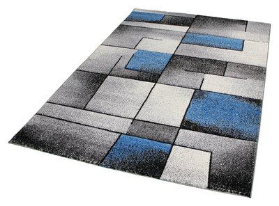 Moderne blauwe vloerkleden en tapijten Raphel 1522 blauw