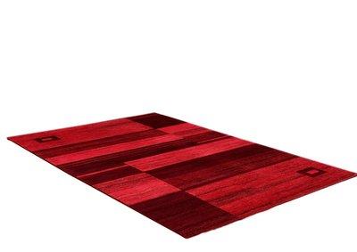 Wollen vloerkleed Kandur Rood