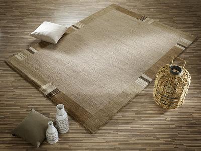 Handgeknoopt vloerkleed Silk Supreme 458 Bruin