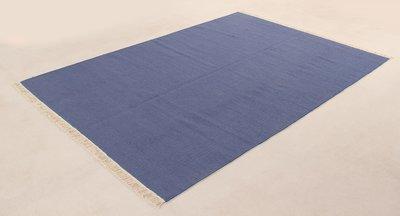 Zuiver wol vloerkleed Verzo kleur Denim