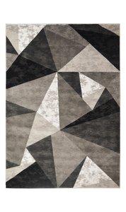 Modern vloerkleed Mombay grijs zwart