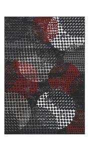 Modern vloerkleed Dresden zwart rood