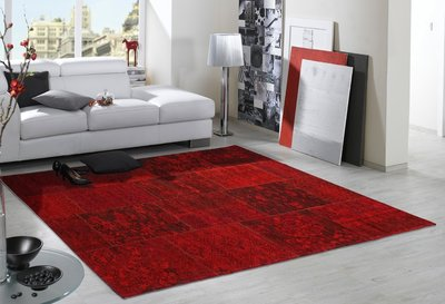Patchwork vloerkleed New York 430 Rood