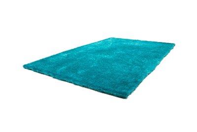 hoogpolig vloerkleed turquoise