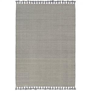 Wollen vloerkleed Belmonte 6016191005 zwart wit grijs