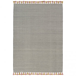 Wollen vloerkleed Belmonte 6016191015 zwart wit