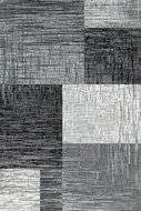 modern zwart vloerkleed