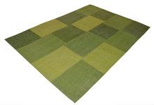 Groen patchwork vloerkleed