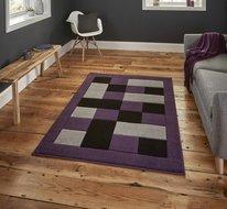 grijs purple vloerkleed