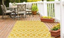 Geel design vloerkleed